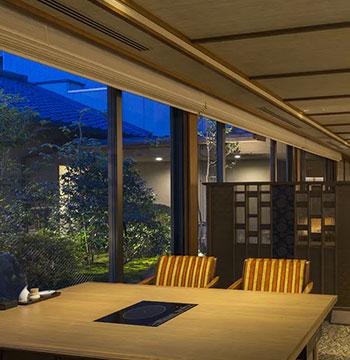 レストラン「山水奏」、温泉付和洋室「雲のね」が佳翠苑皆美にオープン